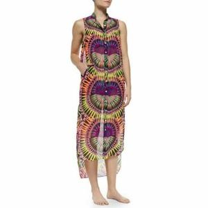 Mara Hoffman Supernova Sheer Swim Coverup Size XS